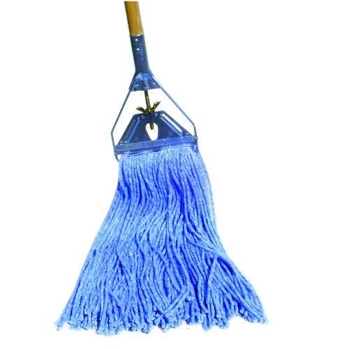 Cut-End Wet Mop, Cotton/Synthetic, #24, Blue
