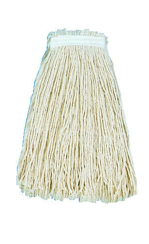 Cut-End Wet Mop Premium Standard Head, 16 Oz Cotton