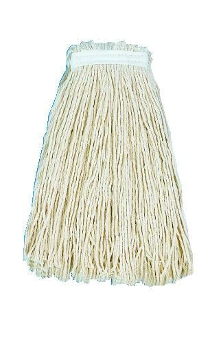 Cut-End Wet Mop Premium Standard Head, 20 Oz Cotton