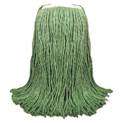 Cut-End Yarn Mop Head, Green, 1 1/4