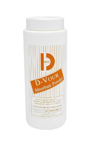 D-Vour Absorbant Powder Can, Lemon, 16 Oz