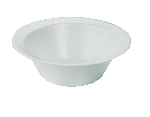 DART 12 Oz White Foam Soup Bowls