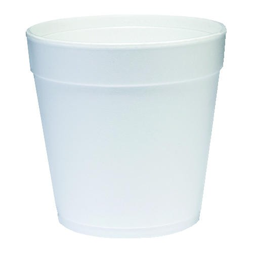DART Cup Foam Squat 24 Oz, White
