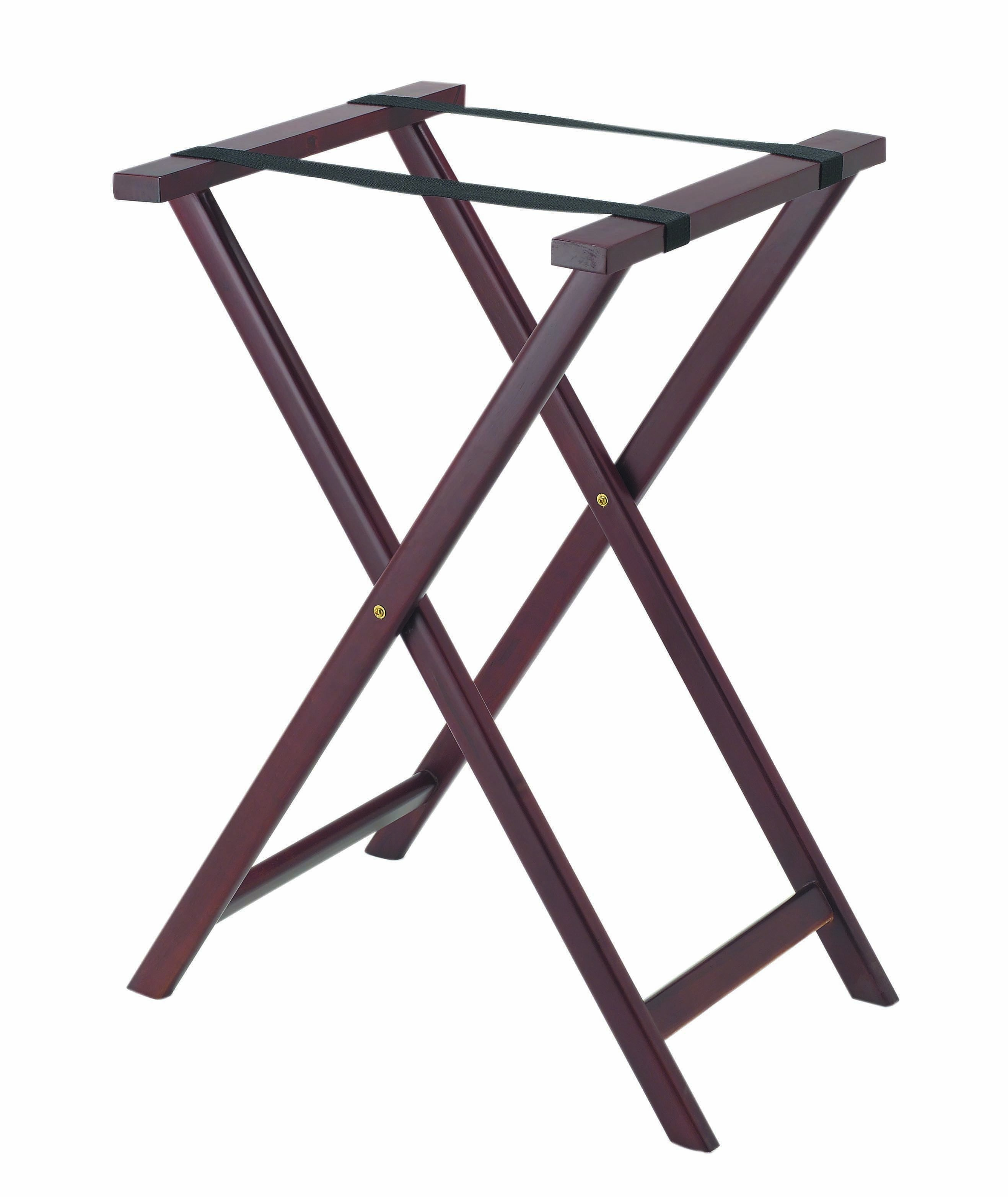 Aarco Products TS-3 Dark Wood Tray Stand