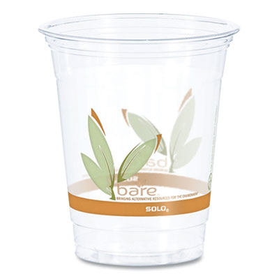 Dart Bare Eco-Forward RPET Cold Cups, 12-14 oz., Clear, 1000/Carton