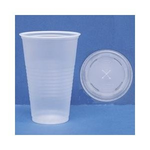 Dart Container Corporation Conex C-Cup Lids, Fits 16-24oz Cups, Translucent (Box of 1000)