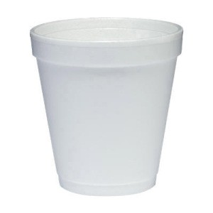 Dart Container Corporation DART Insulated Medium Squat Foam Cup 10 Oz (Box of 1000)