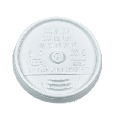 Dart Container Corporation DART White Sip-Thru Lids (fits 12oz cups) (Box of 1000)