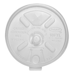 Dart Container Corporation DART Lift N Lock Slotted Lid- Translucent (Box of 1000)