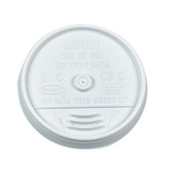 Dart Container Corporation DART Sip-Thru Lid for DART Cups- White (Box of 1000)