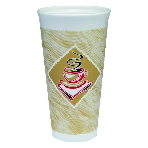 Dart Container Corporation DART Caf� G Foam Cup 20 Oz (Box of 500)