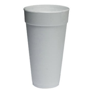 DART Foam Cup 24 Oz (fits with straw-lotted lid) (Box of 500)
