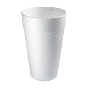 Dart Container Corporation DART Foam Cup 32 Oz (fits straw-slotted lid) (Box of 500)