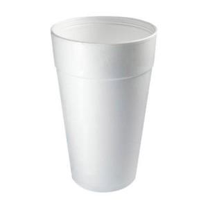 Dart White Foam Drink Cups, 32 oz.,. 500/Carton