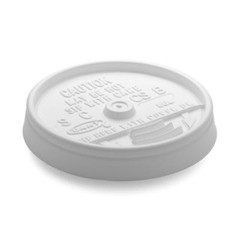 Dart Container Corporation DART Sip-Thru Lid For 8 Oz Foam Cup- White (Box of 1000)