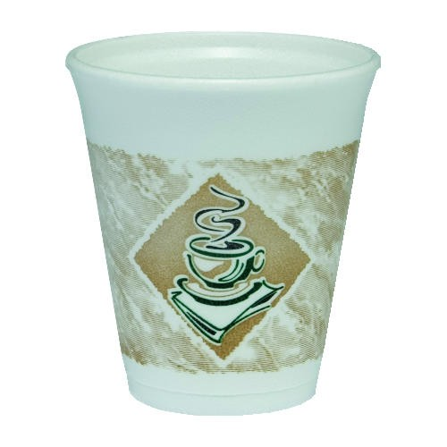 Dart Container Corporation DART Caf� G Foam Cup 8 Oz (Box of 1000)