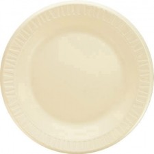 Dart Container Corporation Foam Plastic Plates, 10 1/4 Inches, Honey, Round, 125/Pack (Box of 500)