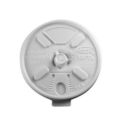 Dart Container Corporation Lift N' Lock Plastic Hot Cup Lids, Fits 10-oz. Cups, White (Box of 1000)