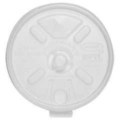 Dart Container Corporation Liftn'Lock Lids, Fits 10-14oz Cups, Translucent (Box of 1000)