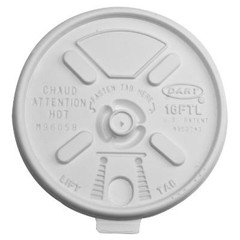 Dart Container Corporation Lift n' Lock Plastic Hot Cup Lids, Fits 12-24oz Cups, Translucent (Box of 1000)