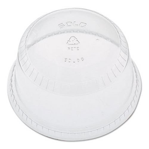 Dart Flat-Top Dome Cup Lids, Plastic, Fits 12-14, 20 oz Cups, 1000/Carton