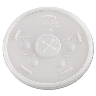 Dart Plastic Cold Cup Lids, 24 oz., Translucent, 500/Carton