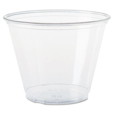 Dart Ultra Clear Cups, Squat, 9 oz., PET, 1000/Carton