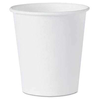 Dart White Paper Water Cups, 3  oz., 100/Pack