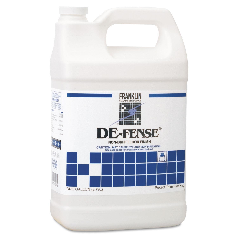 De-Fense Non-Buff Floor Finish, 1 Gallon, 4/Carton