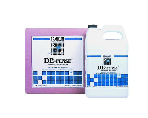 De-Fense Non-Buff Floor Finish Cube, 5 Gallon