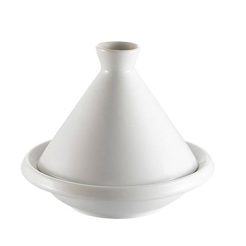 "CAC China COL-A5 White Tajine Dish and Lid Set 5"" dia., x 1-1/2""H"