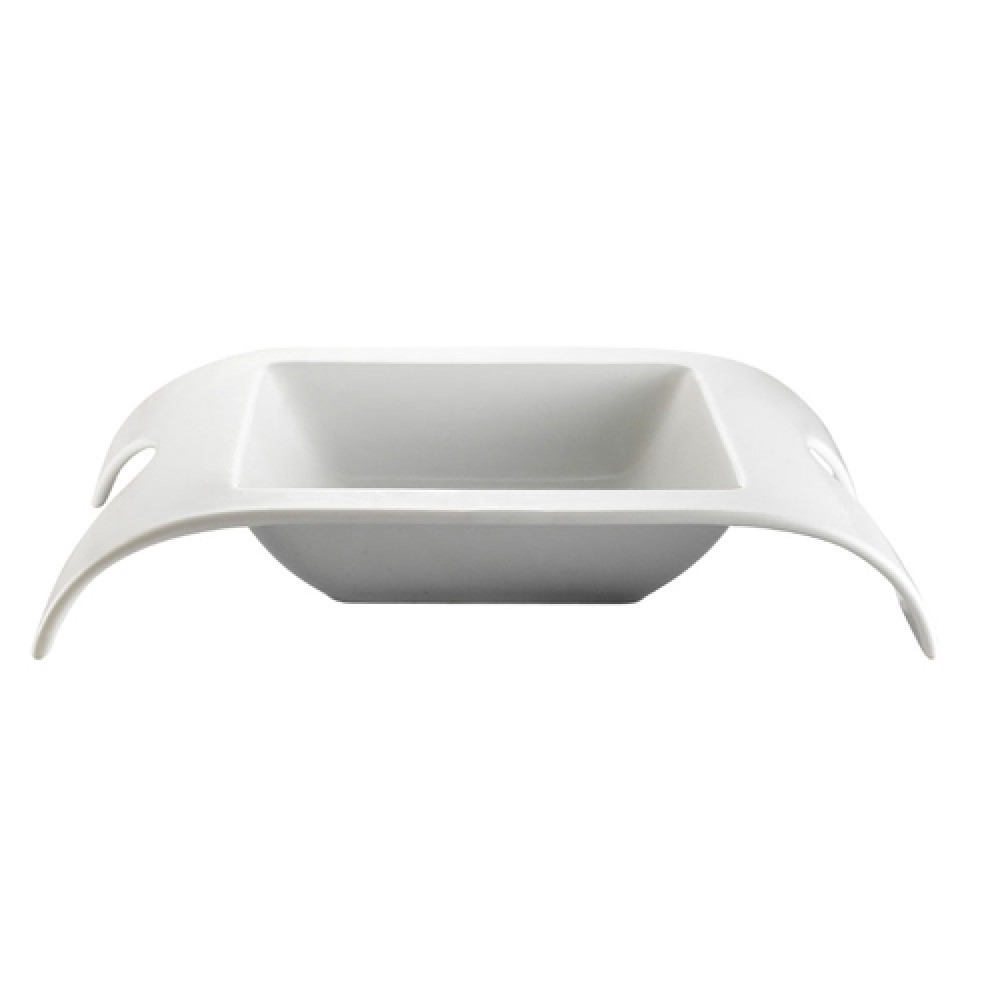 "CAC China FSB-110 Fashion Bridge Square Bowl 24 oz., 11 1/2"" x 8-3/4"" x 2"""