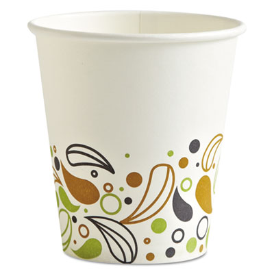 Deerfield Printed Paper Hot Cups, 10 oz, 20 Cups/Sleeve, 50 Sleeves/Carton