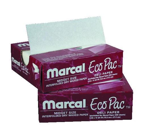 Deli Wrap Ecopac InterFolded Dry Wax Paper 6X10