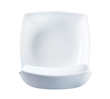 Delice Square Glass Salad/Soup Bowl, 28 Oz., 9-1/2' Dia., White