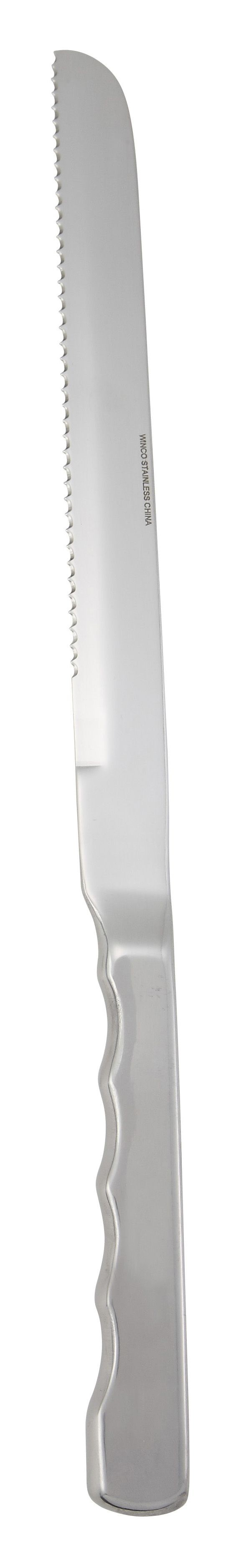 """Winco BW-DK9 Deluxe Wavy-Edge Slicer/Wedding Cake Knife 9"""""""