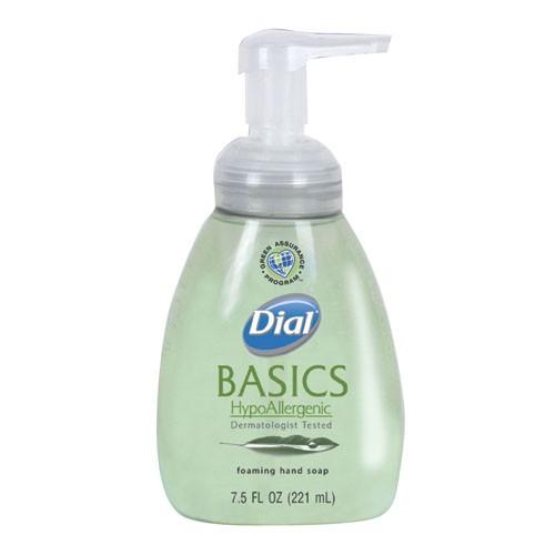 Dial Basics Hypoallergenic Foaming Lotion Soap Pump, 7.5 Oz
