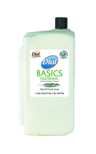 Dial Basics Liquid Hand Soap Refill Cartridges, 1 Liter