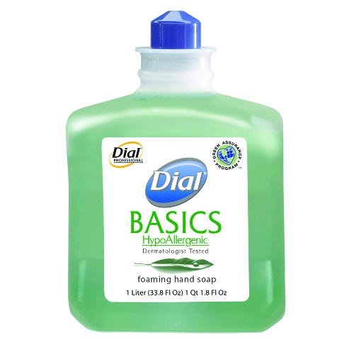 Dial Basics foaming Soap Refill, 1 Liter Bottles