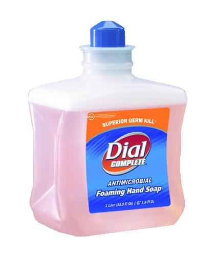 Dial Complete Antimicrobial Foaming Hand Soap Refill, Light Peach, 1 Liter