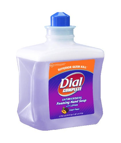 Dial Complete Foam Lotion Soap Refill Cartridge, Plum, 1 Liter
