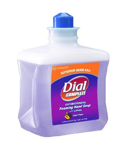 Dial Complete Foam Lotion Soap Refill Cartridge, Plum, 1 Liter