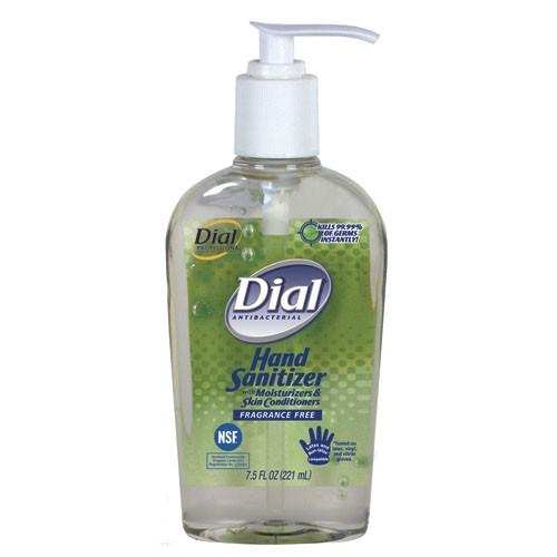 Dial Antibacterial Hand Sanitizer with Moisturizers, Flip-Top Cap 4 Oz.