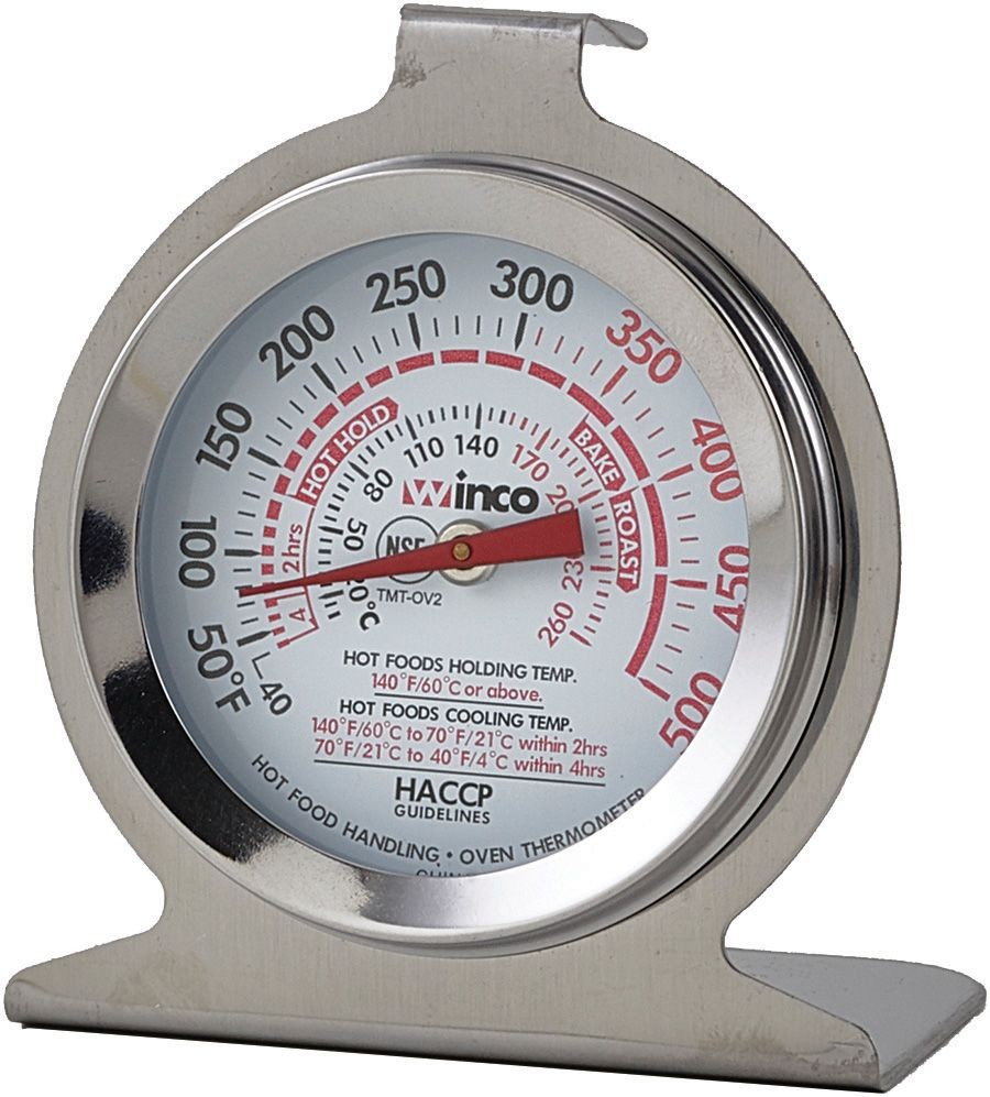 """Winco TMT-OV2 Dial Type Oven Thermometer, 2"""", 50 to 500F"""