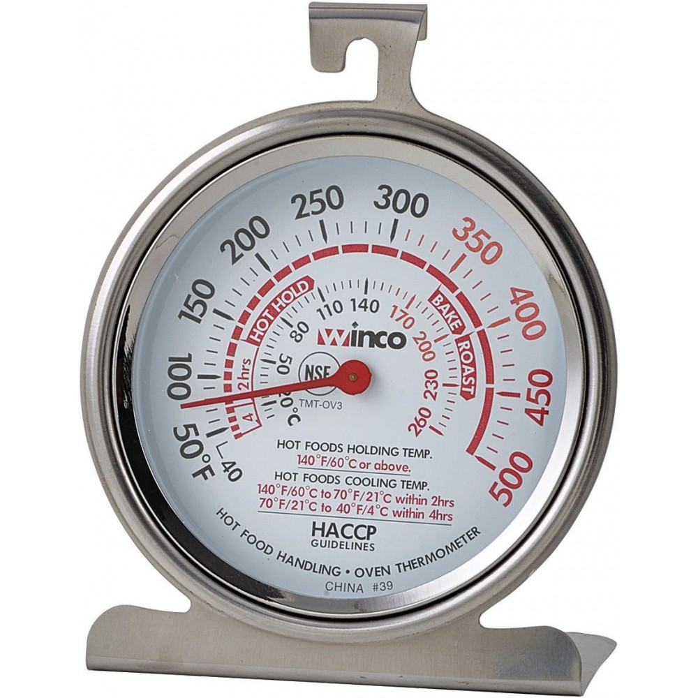 "Winco TMT-OV3 Dial Type Oven Thermometer, 3"", 50 to 500F"