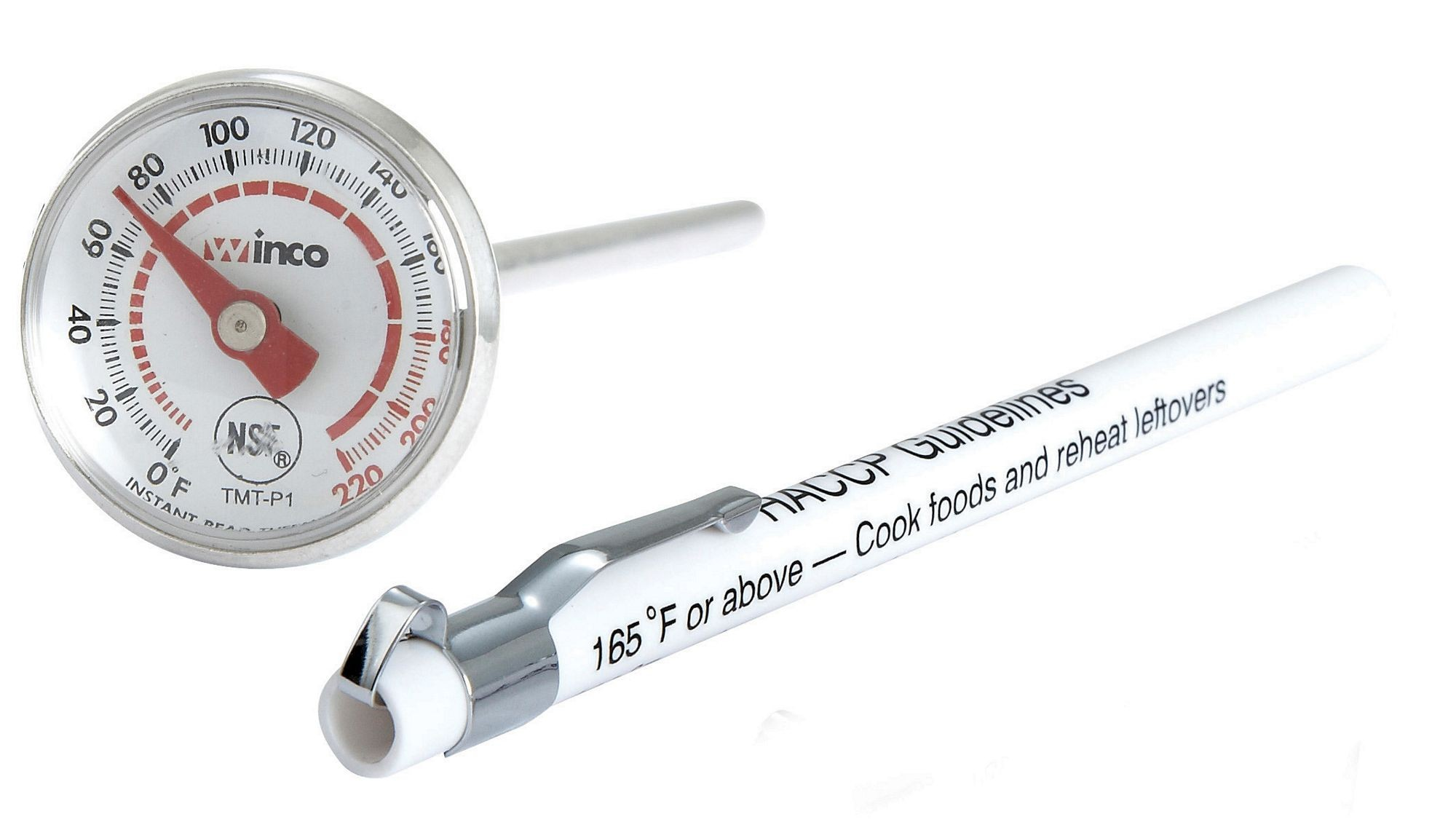 Winco TMT-P1 Pocket Test Thermometer Dial-Type, 0 To 220F