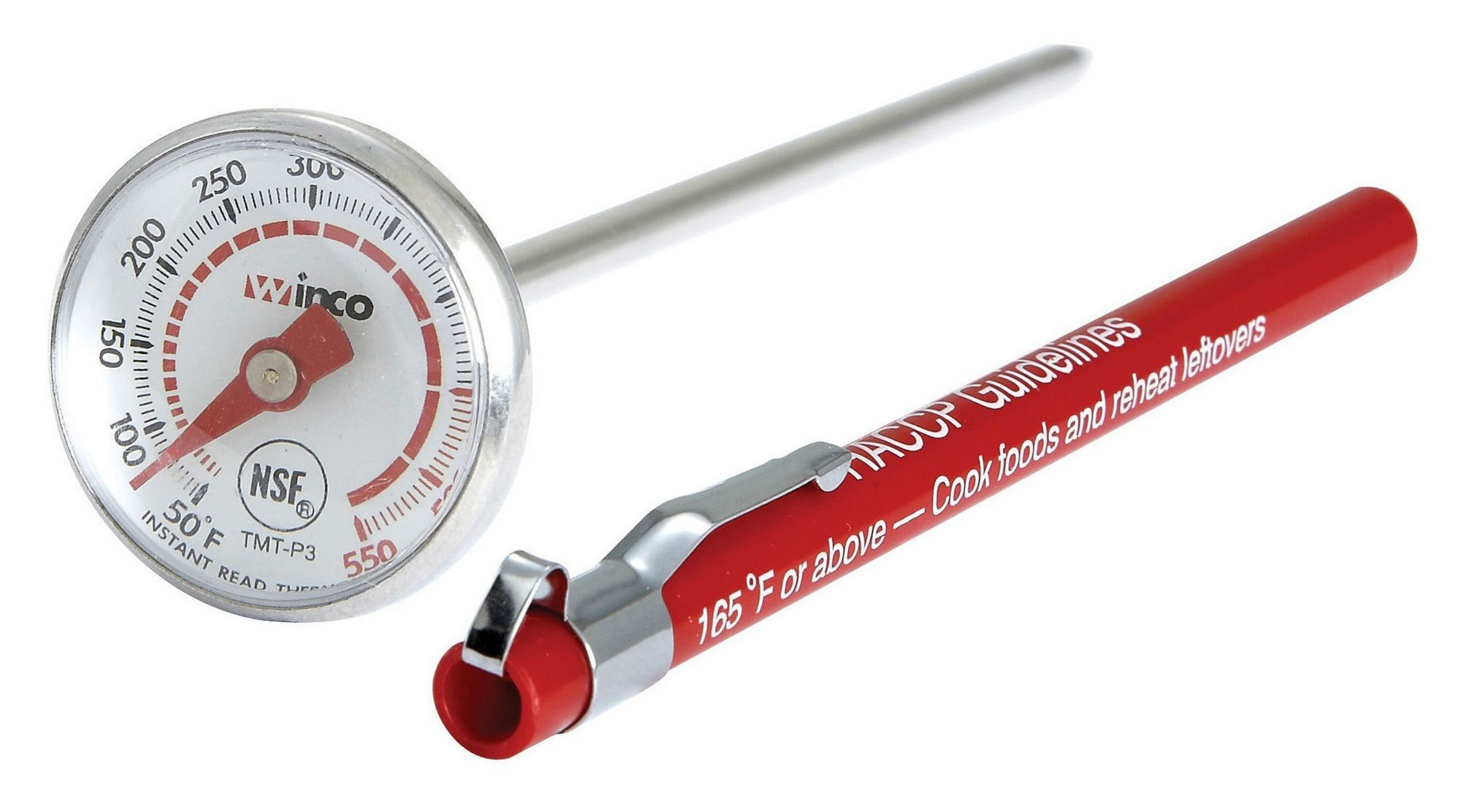 Dial-Type Pocket Test Thermometer With Case - 50F To 550F