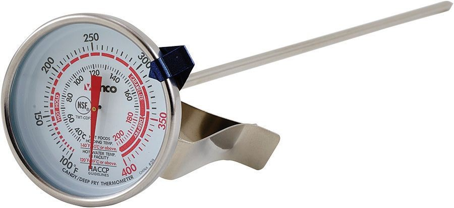 Winco TMT-CDF3 Candy/Deep Fry Thermometer, Dial Type with Stem 3""