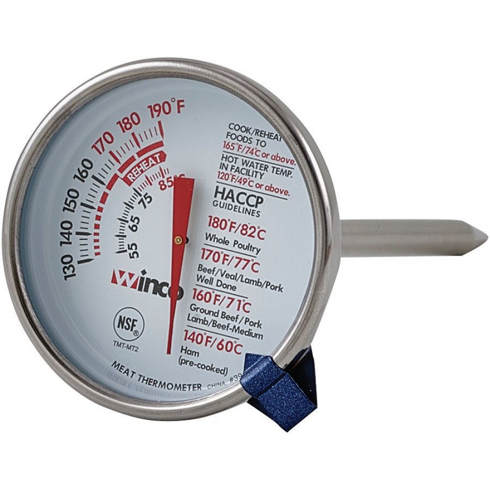 Dial-Type With Stem Meat Thermometer - 2 Dial (130-190F)