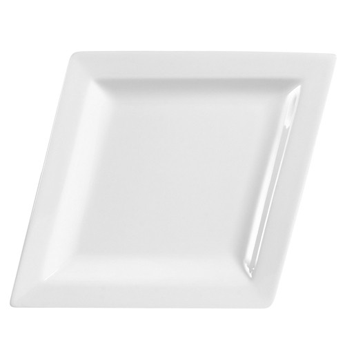 "CAC China DM-C41 Diamond Coupe Platter, 14 1/2"" x 11"""